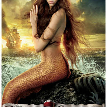 Pirates of the Caribbean On Stranger Tides Mermaid Movie Poster 11x17