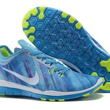 Women's Nike Free TR FIT 5 Training Shoes Clearwater/White-Blue