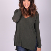 Go-to Hunter Green Top