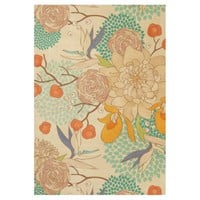 Modern Rose Peony Flower Pattern Wood Poster