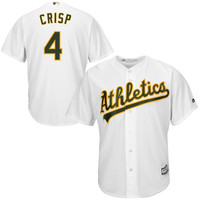 Coco Crisp Oakland Athletics Majestic Official Cool Base Authentic Collection Player Jersey – White