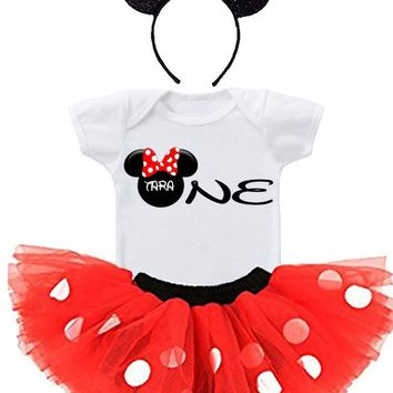 MINNIE MOUSE 1ST BIRTHDAY TUTU OUTFIT