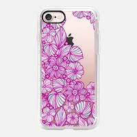 charming purple flowers iPhone 7 Carcasa by Julia Grifol Diseñadora Modas-grafica | Casetify