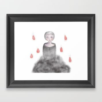 Rain queen Framed Art Print by Natalia Lampropoulou
