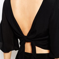 Glamorous Open Bow Back Top
