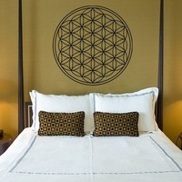 Flower of Life Vinyl Wall Mural for Home by EmpireCityStudios