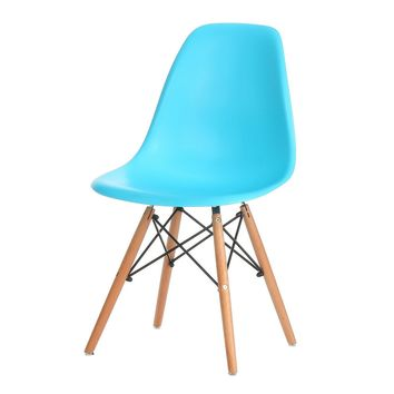 Eames Style Side Chair, Blue