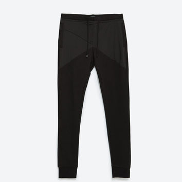JOGGING TROUSERS WITH CONTRAST DETAIL