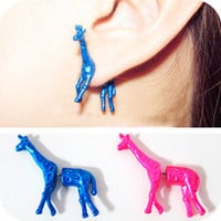 Cute Giraffe Ear Studs
