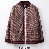 Burberry Autumn and winter new fashion more letter print long sleeve jacket coat