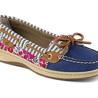 Angelfish Liberty Floral Print Slip-On Boat Shoe