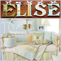 GLENN JEAN FINLEY INSPIRED HAND PAINTED WOOD WALL LETTERS