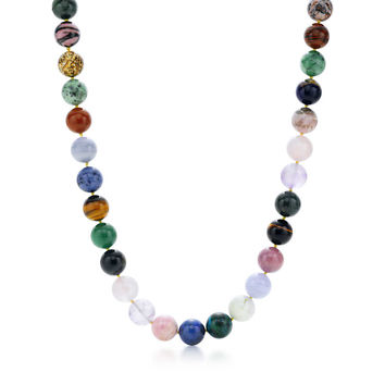 Tiffany & Co. -  Paloma Picasso® bead necklace with colored gemstones and sterling silver clasp.