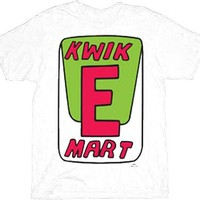 The Simpsons Kwik-E-Mart Adult White T-Shirt  - The Simpsons - | TV Store Online