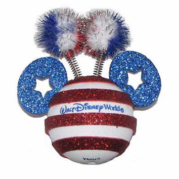 disney parks mickey 4th of july independence flag antenna pen pencil topper new