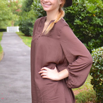 Double Take tunic, choco