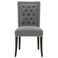 Brandt Dining Chair (Set of 2) Smoke Fabric