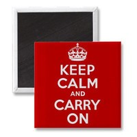 Keep Calm And Carry On Magnet from Zazzle.com