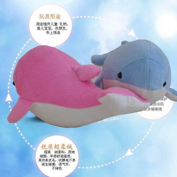 New 28cm 2pcs Sea world cuddly Kawaii Dolphins dolls hold Pillow Cushion Children lovers birthday gift Stuffed toys