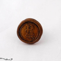 Wax seal ring, Monogram ring, initial ring, Signet ring, jewelry with meaning, signature ring, statement ring, gold ring,