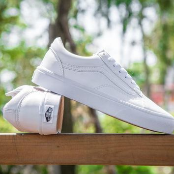 LMFON Vans Old Skool Pro White Low Tops Flats Shoes Canvas Sneakers Sport Shoes