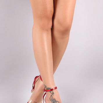 Transparent Crisscross Open Pointy Toe Stiletto Heel | UrbanOG