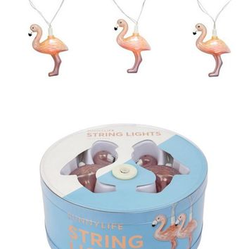 Rose Gold Flamingo String Lights by Sunnylife Australia