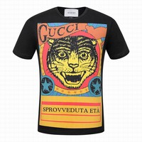 Gucci men and women T-Shirt  Black, white  M/3XL