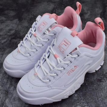 Fila Women Trending Fashion Casual Running Sport Casual Shoes Sneakers Pink G Slxm Yjdf