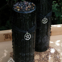 Witches Magick Alchemy Pillar 3x9 . Sacred Ritual, High Magick, Protection, Luck in Love and Money, Clearing, Positive Energy, Banishing