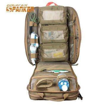 ICIK7N3 SPANKER Tactical MOLLE Medical Backpack Military First Aid Kit Backpack Emergency Assault Combat Rucksack Outdoor Hunting Bags