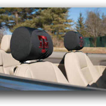 Headrest Covers Set Of 2 Texas A&M Aggies - 82030