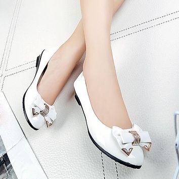 Spring Autumn Toe Flat Heel Bow Tie Shoes Women Fashion Women's Flat Shoes Comfystyle 5 18