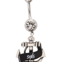 Sleeping With Sirens 14G Anchor Surgical Steel Navel Barbell