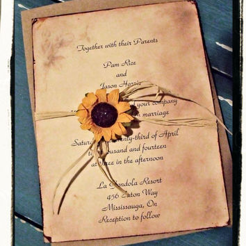 Sunflower bridal shower invitations gangcraft shop rustic bridal shower invitations on wanelo bridal shower invitations filmwisefo