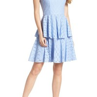 Gal Meets Glam Collection Daisy Lace Tiered Fit & Flare Dress (Nordstrom Exclusive) | Nordstrom