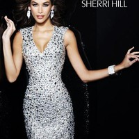 Sherri Hill Short Dress 3751 at Peaches Boutique