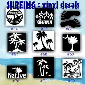 SURFING vinyl decals - 64-72 - vinyl decals - vinyl stickers - custom decals - car sticker - personalized sticker