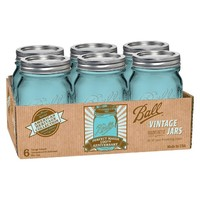 Ball® American Heritage Collection 1 Pint (16 oz.) 6 Pack Mason Jars - Blue