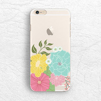 Floral flower matte transparent phone case for iPhone 5 5s, iPhone 6, Nexus 6, Sony z3, HTC one m8, LG g3,  Samsung note 4 clear case -P14