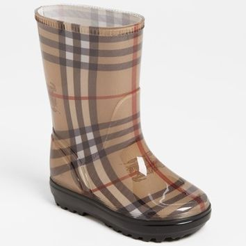 Toddler Girl's Burberry 'Niles' Rain Boot