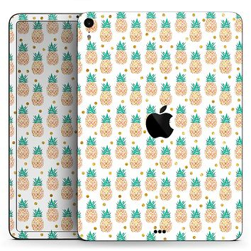 "Tropical Summer Pineapple v1 - Full Body Skin Decal for the Apple iPad Pro 12.9"", 11"", 10.5"", 9.7"", Air or Mini (All Models Available)"