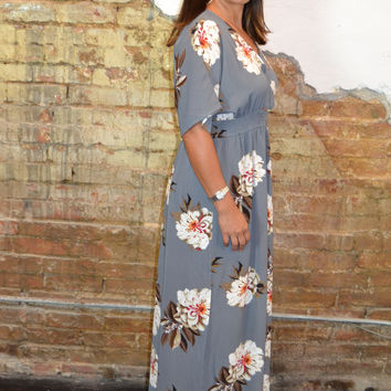 Last Request Floral Print Maxi Dress