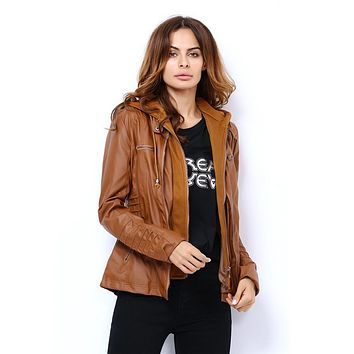 Spring Autumn Leather Jackets For Women Coat Casaco Feminino Female Motorcycle Basic Jacket Punk Chaquetas Outerwear Clothing