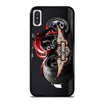 MOTORCYCLE HARLEY DAVIDSON iPhone X Case Cover