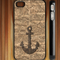 Anchor on Newspaper - iPhone 4 / iPhone 4S / iPhone 5 / Samsung S2 / Samsung S3 / Samsung S4 Case Cover