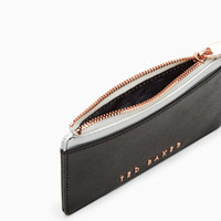Colour block leather coin purse - Black | Purses | Ted Baker NEU
