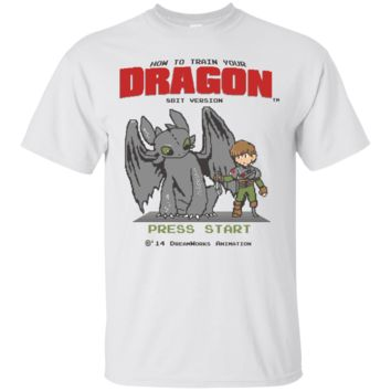 POKEMON - HOW TO TRAIN YOUR DRAGON 8BIT VERSION T SHIRT