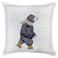 Skating Bear Throw Pillow - Threshold™