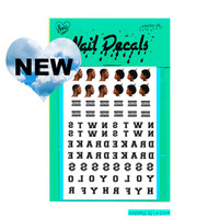 DRAKE - waterslide nail decals - free shipping U S A - Andy Paerels